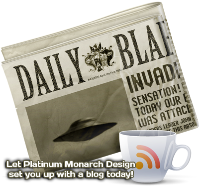 Newspaper and Coffee with RSS Feed